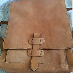 Old Angler Leather Backpack